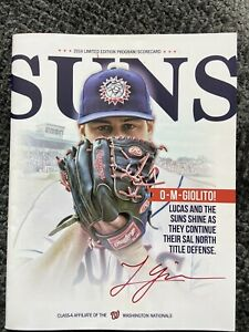 RARE! White Sox Lucas Giolito ROOKIE AUTO SIGNED 2014 Hagerstown Suns Program