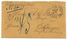 US Stampless Trans-Atlantic Ship Cover New York to Germany October 17, 1857 23c