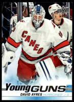 2019-20 UD SP Authentic  Update Young Guns #519 David Ayres RC