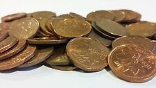 FULL ROLL 1994 CANADA ONE CENT PENNIES CIRCULATED