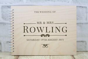 Personalised Wedding Guest Book Wedding Album Wedding Day Modern Design