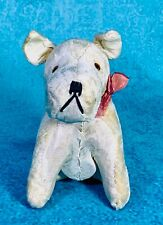 Vintage 1940's/50's Mohair Covered Cute Mini Dog Squeaky Toy🐶Cute!!