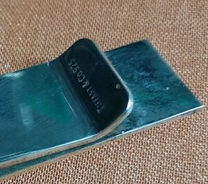 T&CO 925 VINTAGE STERLING SILVER MONEY CLIP VI XII 6 12