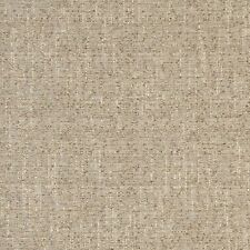 B405 Beige Textured Solid Jacquard Woven Upholstery Fabric By The Yard