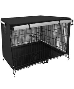 Pet Dog Kennel Cover Universal Fit for Wire Crate Durable Polyester 36 Inches