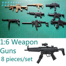 8PCS/SET 1:6 Toys Uzi MP5 Guns Weapon for Solider Action Figures Accessories 1/6