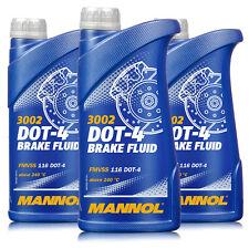 Bremsflüssigkeit MANNOL DOT4 SAE J1703 3 Liter (3x1) Brems Flüssigkeit Universal