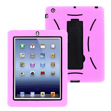 iPad 2nd Case Cover Hybrid w/ Kickstand & Screen Protector for Apple iPad 2/3/4