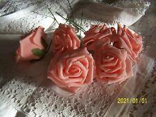 Ancienne fleur. Rose sur tige. Pour chapeaux, modélistes. Rose. N°231