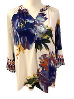 New Multiples Brand Womens Floral Tunic Shirt Top size S Small From Stitch Fix