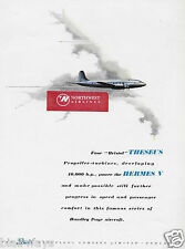 HANDLEY PAGE HERMES 4 BRISTOL AEROPLANE CO THESUS TURBINES 1949 AD