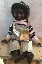 """Darnell"" Smoky Holler Wooden Doll w/ tag Nancy Bruns, 1992, # 33 of 250"