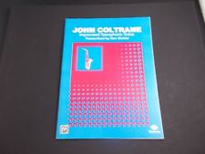 * J0Hn Coltrane- sax solos -Songbook -saxophone