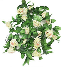 2 X 8Ft Artificial Rose Garland Silk Flower Vine Ivy Wedding Garden String Decor