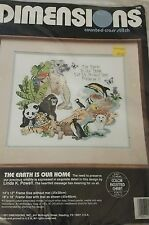 cross stitch animals the earth is our home