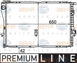 Hella Radiator 8MK 376 712-231 fits BMW 5 Series 520 i (E39) 110kw, 523 i (E3...