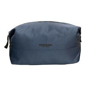 Diesel Mens Padded Travel Toiletry Wash Bag in Blue