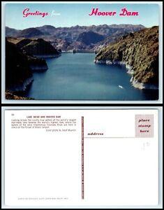NEVADA Postcard - Hoover Dam & Lake Mead K49