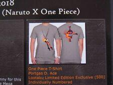 One Piece T-Shirt Portgas D. Ace neu ovp S grau Manga Anime Cosplay