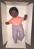 "Vintage Black Ethnic Furga Doll 1998 Made In Italy 20"" Doll"