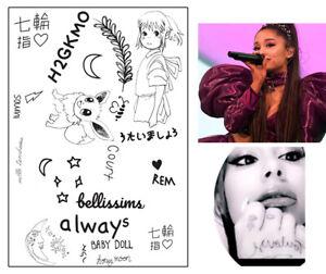 Ariana Grande Fake Tattoos