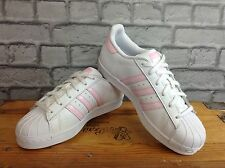 Adidas Femmes UK 5 EU 38 blanc rose Superstar Baskets