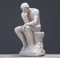 Rodin Pensatore Statua Fine Art Scultura Decor Nudo Maschile Figura Reale Della