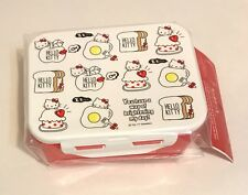 Sanrio, Hello Kitty Egg Bread Food Design, Red Plastic Lunch Bento Box, 2017