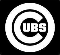 Chicago Cubs MLB Logo Team Baseball Vinyl Decal Sticker Car Window.