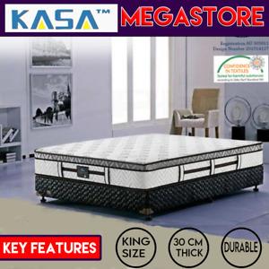 KASA Dream King Size Mattress Pocket Spring Euro Latex Top 6 Turns 30 cm Thick