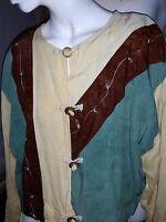 NEW Beaded Embroidered Nativewear Designs Large Womens Boho Jacket Pastel LG Art