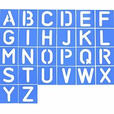 26 Pieces Plastic Letter Stencil Alphabet Stencils Set for Painting Learning DIY