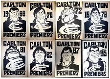 1968 - 1995 Carlton Premiers Weg posters X 8  Premiership Blues poster