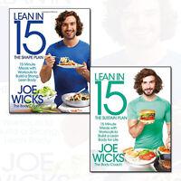 Joe Wicks Lean in 15 Collection 2 Books Set (Sustain Plan, Shape Plan) NEW