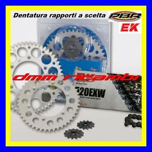 Kit Trasmissione APRILIA TUAREG RALLY 125 86 catena corona pignone PBR EK 1986