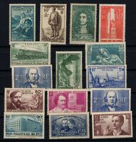 PP135445/ FRANCE – YEARS 1937 - 1940 MNG SEMI MODERN LOT – CV 227 $