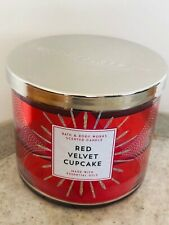 Bath & Body Works RED VELVET CUPCAKE 3-Wick Candle 14.5 oz FREE SHIPPING