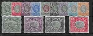 SOMALILAND SG32/44 1904 DEFINITIVE SET MTD MINT
