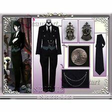 Black Butler II Kuroshitsuji Sebastian Uniform Custom Made Anime Cosplay Costume