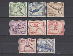 DR/German Empire/Third Reich 1936 Mi № 609-616 (MVLH) CV (Michel 2015) €22