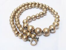 Vintage Art Deco Sterling Silver Bead Necklace