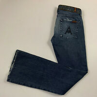 7 FOR ALL MANKIND womens size 29x34 jeans A pocket bootcut  faded blue