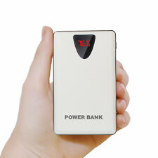 AU 50000mah Power Bank 3 USB LCD 2 LED Battery Charger for Universal Cell Phone White