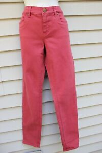NWT Ann Taylor Loft Outlet Red Curvy Fit Skinny Jeans 4