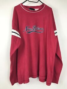 New Balance Sample Mens Size XXL Red Long Sleeve T Shirt Tee Spell Out