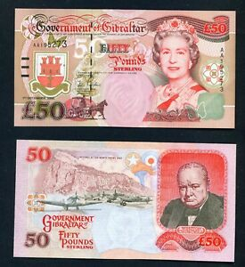 GIBRALTAR - 2006 £50 aUNC Banknote