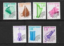 FRANCE: 1990 Musical instruments set of 7 vf MINT MNH  SG 2993 - 2999