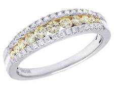 Ladies 14K White Gold Genuine Canary Diamond Channel Set Ring Band .50CT 5MM