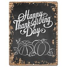 PP0943 HAPPY THANKSGIVING DAY Plate Chic Sign Home Restaurant Kitchen Decor