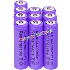 10x AA battery batteries Bulk Nickel Hydride Rechargeable NI-MH 3000mAh 1.2V Pur